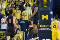 ANN ARBOR, MICHIGAN - JANUARY 22: Michigan Wolverines vs Penn State Nittany Lions college basketball game at Crisler Arena on January 22, 2019 in Ann Arbor, MI. (Photo by Aaron J. Thornton/Alotofsportstalk.com)