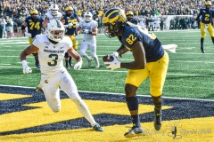 ANN ARBOR, MICHIGAN - NOVEMBER 16: A college football game between the Michigan Wolverines and the Michigan State Spartans at Michigan Stadium on November 16, 2019 in Ann Arbor, MI. (Photo by Aaron J. Thornton/A Lot of Sports Talk)