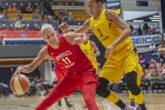 august 23, 2018,  washington mystics vs la sparks eliminated game