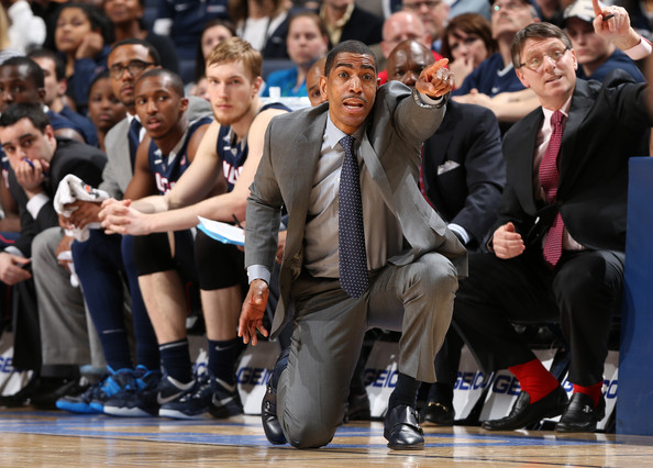 UConn head coach Kevin Ollie has pointed the Huskies to their first Sweet 16 appearance since the team won the national championship in 2011. (Joe Murphy/Getty Images)