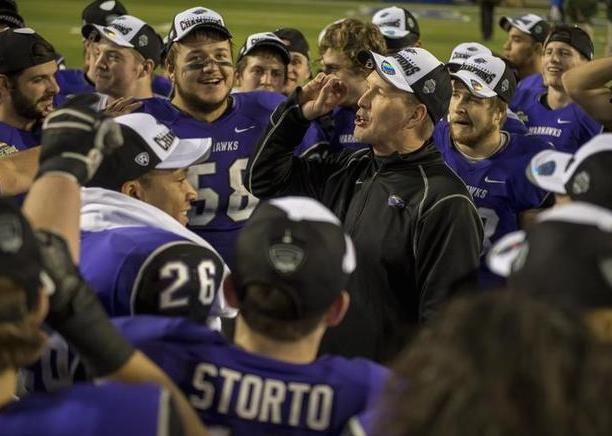 Football head coach Lance Leipold - a UW-Whitewater alum - has led Warhawks to five national championships, all since he took over the job in 2007. (Peter Lockley/Getty Images)