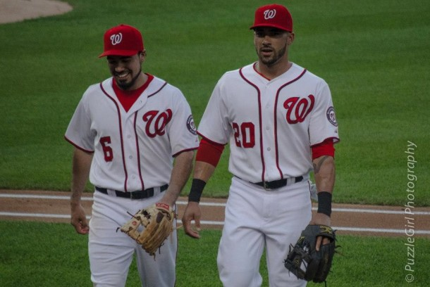 If the all-around consistent play of Anthony Rendon (l.) and power-hitting stroke of Ian Desmond continue, the Nationals won't feel the loss of Ryan Zimmerman to injury too much. (Angela Halsted/PuzzleGirl Photography)