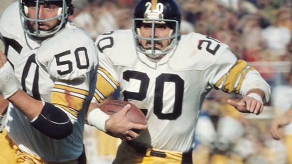 Four years after almost having his leg amputated due to a gunshot wound and shrapnel riddling his feet, Rocky Bleier helped the Steelers win the first of their four Super Bowls in the 1970s. (Vernon Biever/Getty Images)
