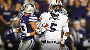 Though not as important as the miracle touchdown he scored against Georgia in 2013, Ricardo Louis' score against K-State helped lead the Tigers to victory. (Auburn Athletics)