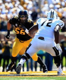 Missouri is more than just relevant in the SEC thanks in large part to the pass rushing exploits of Shane Ray. (Jamie Squire/Getty Images)