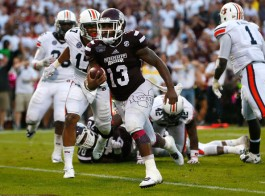 Somewhat overlooked in Mississippi State's 6-0 start is running back Josh Robinson, who's second in the SEC in rushing yards with 689. (Kevin C. Cox/Getty Images)