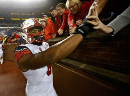 Meet the nation's sack leader, Utah's Nate Orchard, who now has 10.5 sacks after two in yesterday's win over Oregon State. (G. Shamus/Getty Images)