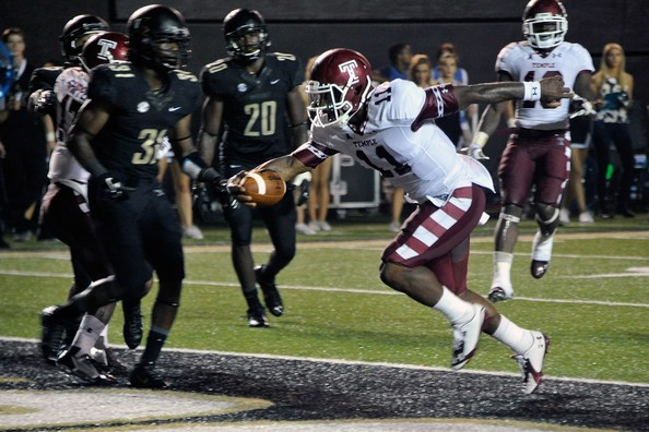 The dual-threat ability of Temple quarterback P.J. Walker has helped the Owls start the season 4-1, as they are a legitimate challenger to nationally-ranked East Carolina for the championship in The American. (Frederick Breedon/Getty Images)