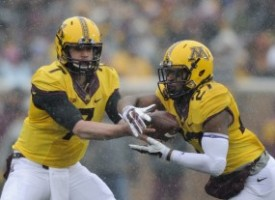 The backfield combination of quarterback Mitch Leidner and running back (Hannah Foslien/Getty Images)