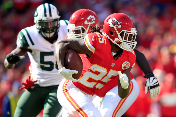 Though On pace for another 1,000-yard rushing season, Chiefs RB Jamaal Charles (Jamie Squire/Getty Images)