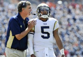 Quarterback Justin Thomas has fared well in Paul Johnson's triple-option attack. (Michael Shroyer/Getty Images)