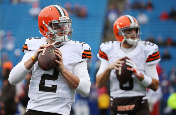Though Johnny Manziel saw time last week and led a touchdown drive against Buffalo, Brian Hoyer will once again get the call to start this week against the Colts. (Brett Carlsen/Getty Images)