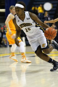 Freshman Keiana Gilbert scored a career-high 27 points to lead the Mocs to the upset of the Lady Vols. (Frank Mattia)