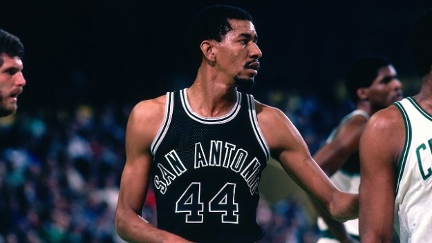 Not only did George Gervin retire with a 26.2 career NBA scoring average, he left the league as the all-time blocks leader among guards in NBA history. (Dick Raphael/NBAE via Getty Images)