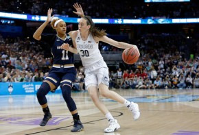 Tournament MOP Breanna Stewart battled with fellow All-Tournament team member Brianna Turner in the post all game long. (Mike Carlson/Getty Images)