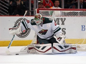 Devan Dubnyk is awesome, or something like that. (Jonathan Daniel/Getty Images)