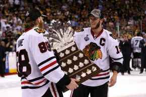 Kane and Toews are reunited and ready to attempt winning their third Stanley Cup in six seasons. (Bruce Bennett/Getty Images)