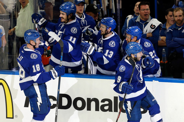 The Tampa Bay Lightning persevered through a road elimination game at Joe Louis Arena and a Game 7 on the road at Madison Square Garden in the conference finals to make their second-ever Stanley Cup Final appearance. (Mike Carlson/Getty Images)