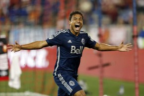 Kianz Froese scored the game-winner for the Whitecaps, who have earned more away points (16) than any other in MLS. (Julio Cortez/Newsday)