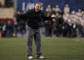 How good is West Virginia? After wins against Georgia Southern and Liberty, I don't think Dana Holgorsen even knows that just yet. (Justin K. Aller/Getty Images)