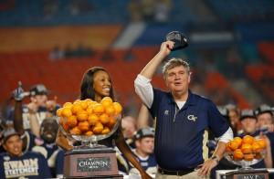 Paul Johnson of Georgia Tech. (Chris Trotman/Getty Images)