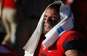 Scooy Wright of Arizona. (Christian Petersen/Getty Images)