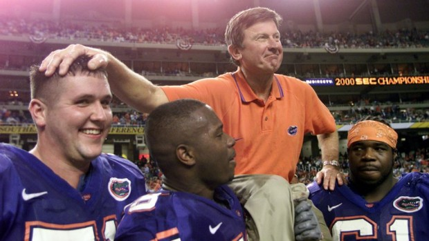 While a quarterback at Florida, Steve Spurrier won a Heisman Trophy. As the coach of Florida, he turned the Gators into a national power, making lots of fans and enemies like. (Jamie Squire/ALLSPORT)