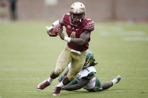Until the passing game gets up to speed, the Seminoles will continue to ride the shoulders of running back Dalvin Cook. (Joe Robbins/Getty Images)