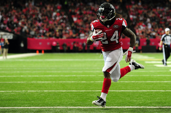 The emergence of Devonta Freeman at running back has helped the Falcons get off to their first 4-0 start to a season since (Scott Cunningham/Getty Images)