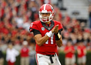 Greyson Lambert has thrown four more touchdowns (5) than he has incompletions in the last two weeks. (Todd Kirkland/Getty Images)