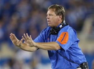 Despite the close calls, the Jim McElwain era has gotten off to a great start when looking at the wins and losses. (Andy Lyons/Getty Images)
