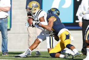 Cal is looking to avenge last season's loss to UCLA, when this fourth-quarter INT by Marcus Rios sealed a 36-34 Bruins' win. (Theron W. Henderson/Getty Images)