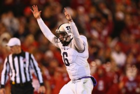 TCU agonizingly came up just short in Norman, with backup quarterback Bram Kohlhausen almost leading the Frogs back from a 17-point second-half deficit. (Ronald Martinez/Getty Images)