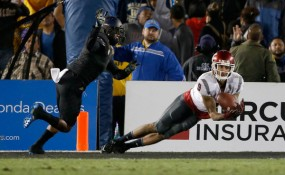 This diving catch by Gabe Marks with three seconds left gave Washington State its second win in the final seconds of a contest in 2015. (Sean M. Haffey/Getty Images)