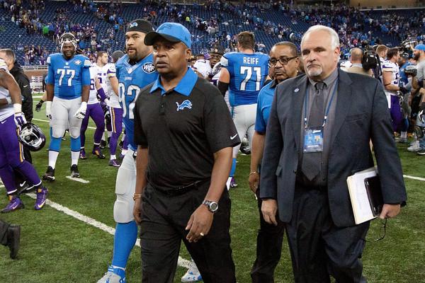Jim+Caldwell+Minnesota+Vikings+v+Detroit+Lions+Dave Reginek