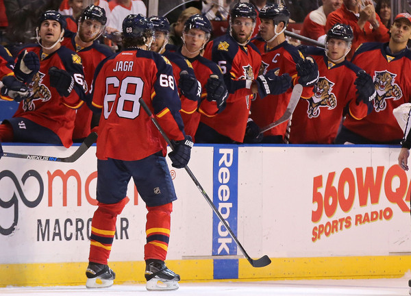 Since being acquired at the trade deadline last season to provide a veteran presence to a young roster, the ageless Jaromir Jagr (Mike Ehrmann/Getty Images)