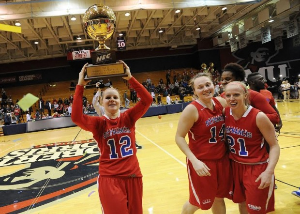The past few years have seen Saint Francis College excel on the playing fields in various sports, including the women's basketball team winning its first ever conference tournament championship, which they did this past March. (Don Wright/AP Photo)