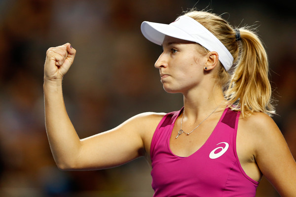 One of the rising stars in singles, Daria Gavrilova has won seven matches against players in the Top 20 in the past 10 months, including a win vs. Petra Kvitova in this year's Aussie Open. (Zac Kaczmarek/Getty Images AsiaPac)