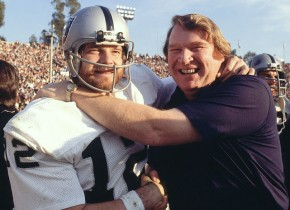 Stabler (l.) and Madden during their finest hour in Pasadena, when the Raiders won Super Bowl XI. (Hans Kluetmeier/SI)
