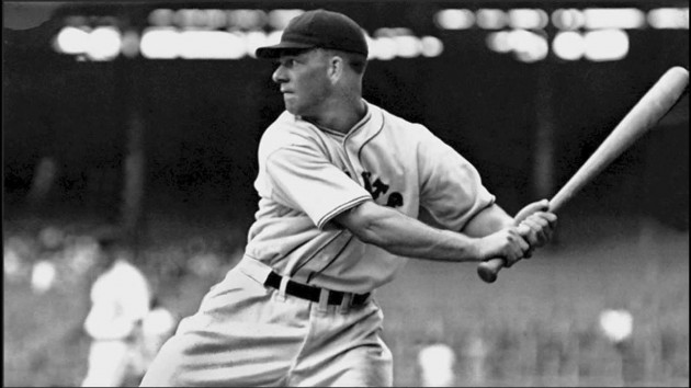 Sure, Mell Ott was known for his unusual swing, kicking his front leg out and dropping (BaseballHall.org)
