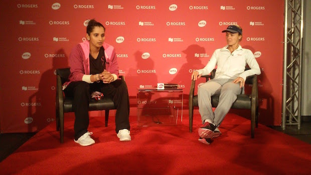 Starting with their run to the US Open title last year, Sania Mirza (l.) and Martina Hingis went on to win 41 straight doubles matches. The pair confirmed their split just after their appearance in Canada last month. (A Lot of Sports Talk)
