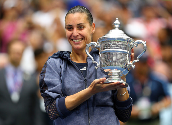 We know there will be a new women's singles champion at the US Open after last year's winner, Flavia Pennetta, decided to announce her retirement immediately after winning the trophy. (Clive Brunskill/Getty Images)