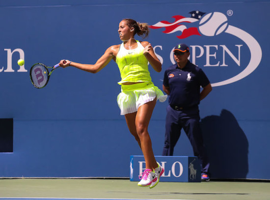 Keys' forehand is one of the best on the WTA Tour, and she needed it to bail her out of trouble today. (Photo: Robert Cole)