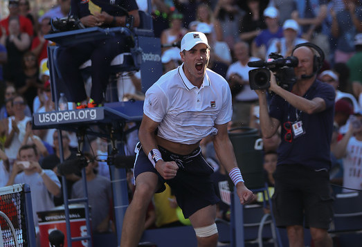 After roaring back to win his first-round match against Frances Tiafoe in the first round, John Isner had an easier time on the court on Wednesday. (Photo: Robert Cole)