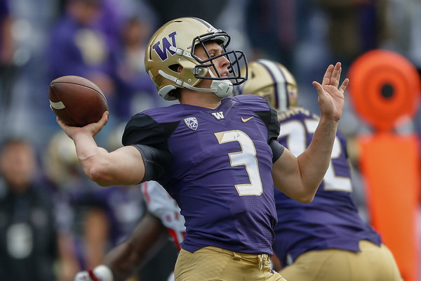 Led by the steady quarterback play of Jake Browning, Washington has moved into the AP Poll Top 10 for the first time since 2001. The Huskies will be tested Saturday night in Tucson. (Otto Greule Jr)