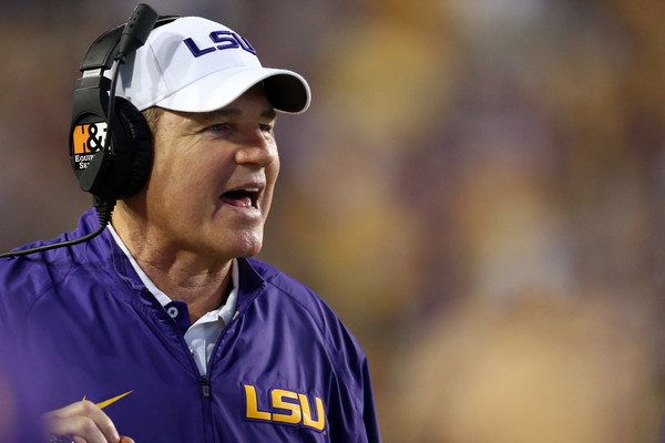 It was easy to root for him. It was easy to root against him. No matter what, you almost always noticed Les Miles, and so did the rest of the college football world. Miles was relieved of his duties as LSU head coach after an 18-13 loss to Auburn last Saturday. (Chris Graythen/Getty Images)