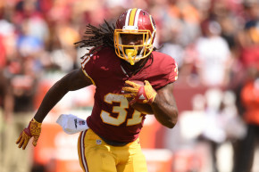 Jones has responded to the heavier workload in the backfield, averaging 4.7 yards per carry in his last three games. (Mitchell Layton/Getty Images)