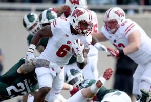 The key to a Badgers' win on Saturday night could be the running of Corey Clement, as Wisconsin is 9-0 when he runs for over 100 yards. (Bobby Ellis/Getty Images)