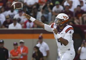 The Hokies are scoring 39.4 points per game, while QB Jerod Evans has thrown 15 touchdowns compared to just one interception. (Michael Shroyer/Getty Images)