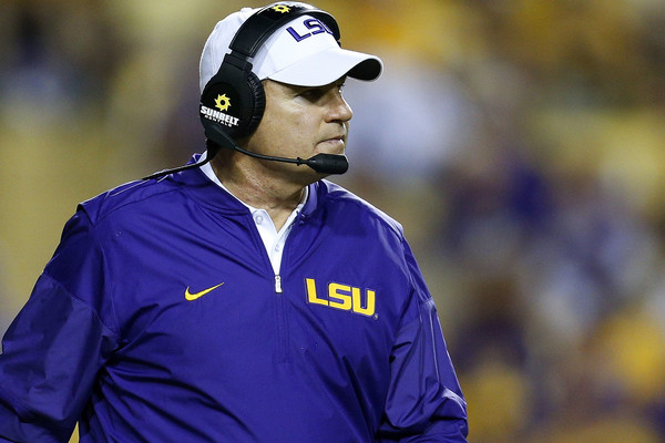 Even with his overwhelming success on the football field, head coach Les Miles had been on shaky ground with the LSU administration the past few seasons. Miles was fired on Sept. 19. (Jonathan Bachman/Getty Images)